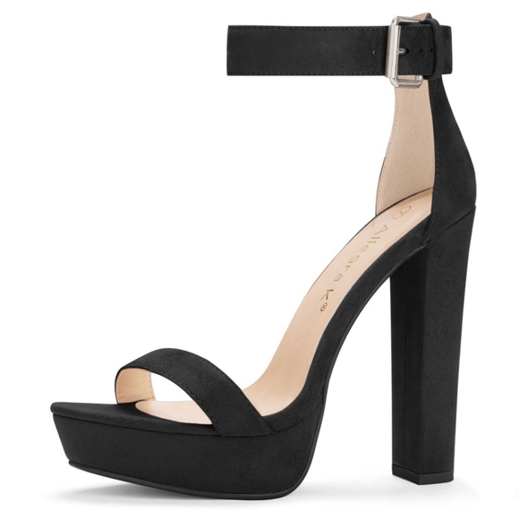 Chunky Heel Ankle Strap Front